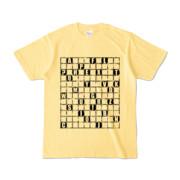 Tシャツ | ライトイエロー | ALPHABET_GRAVEL