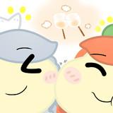 咲夜さんと一緒に焼きマシュマロを食べる美鈴