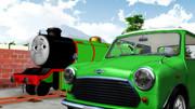 ちっさい車とちっさい機関車