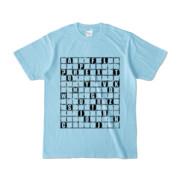 Tシャツ | ライトブルー | ALPHABET_GRAVEL