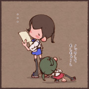 加賀さんに挨拶する瑞鶴