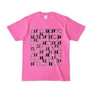 Tシャツ | ピンク | ALPHABET_GRAVEL