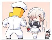 バレンタインチョコ渡してるシェフィちゃん