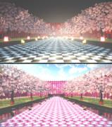 桜の道ステージ改 【MMDステージ配布】