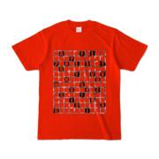Tシャツ | レッド | ALPHABET_GRAVEL