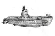 USSソーフィッシュ(渚にて)