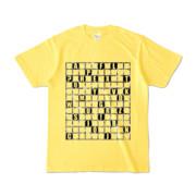 Tシャツ | イエロー | ALPHABET_GRAVEL