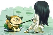キュ……イナババさんと夕里子さん、何をしてるの?
