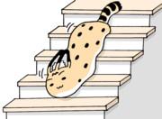 階段を降りるのが面倒くさいサーバルちゃん