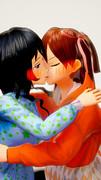 彩翔凜と礼恵稔のキス