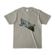 Tシャツ   シルバーグレー   Slant_SAKURA