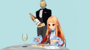 【MMM】豚挽肉とニンニクの中華パスタ包み焼を召し上がるレア様