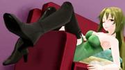 ソファでブーツ見せつけ玲霞さん、脈絡のないけどセクシー293【Fate/MMD】
