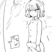締め出される山田花子