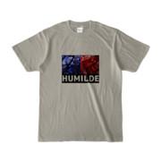 Tシャツ   シルバーグレー   HUMILDE_Blue&Red