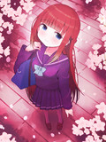 桜とセーラー服。