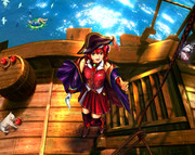 帆を張る船長