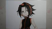 【シャーマンキング】麻倉葉描いてみた。