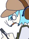 タバコを吸いながら銃の手入れをするCRN