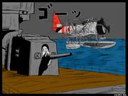 多摩と95式水上偵察機