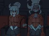 悪魔の女同士、映画館、6時間。何も起きないはずがなく…