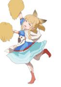 ネコ嬢の応援ダンスの技