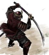 長巻の武士
