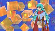 宝石キューブと少女