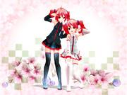 桜とテトさん