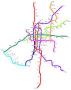 大阪メトロの路線図