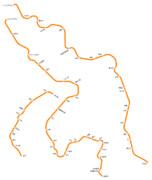 松浦鉄道の路線図