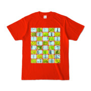 Tシャツ   レッド   Steel20_and_Grass20