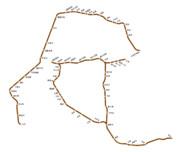 富山地方鉄道(鉄道線)の路線図