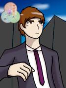 【オリキャラ】スーツ姿パト【せかへい】