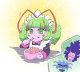 ゼリー食べるエルダちゃん