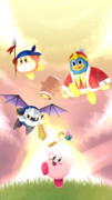 4人の仲間と【星のカービィ29周年】
