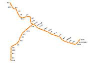 伊予鉄(郊外線)の路線図