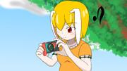 カメラをいじる鈴瑚ちゃん