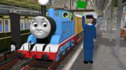 トーマス、ケロリン町駅を出発