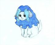 青キノコ犬