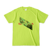 Tシャツ | ライトグリーン | Slant_SAKURA