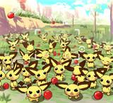 りんごに集まるピチュー