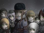 ユーケと愉快な武装エルフの仲間達。