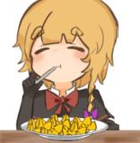 ファルファーレを食べるMGR