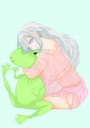 姫とカエル