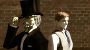 路地裏の紳士達
