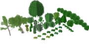 きかんしゃトーマス用 樹木&低木アクセサリー ver.2