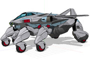 【MMD-OMF11】試作 観測多脚空陸両用車