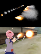 【MME】発光・発射煙エフェクト