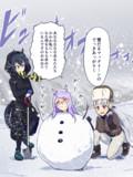 冬合宿で雪だるマックイーン